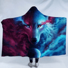 Wolf Eye Hooded Blanket Hooded Blanket BeddingOutlet Kids 127(H)x152(W)