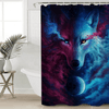 Wolf Eye Waterproof Bath Curtain Shower Curtains BeddingOutlet 90x180cm
