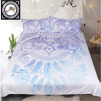 Wolves Heart Bedding Set Bedding covers BeddingOutlet Single