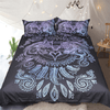 Wolves Heart Feathers Boho Bed Set Bedding Covers BeddingOutlet AU Single