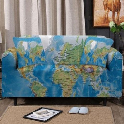 World Map Sofa Cover Sofa Covers BeddingOutlet 1-Seater
