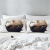 Yin and Yang Wolves Pillow Case Pillowcases BeddingOutlet 50cmx75cm