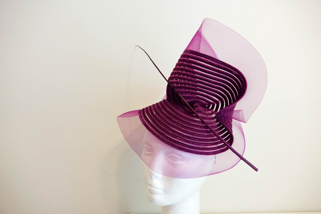 Beautiful elegant Grape coloured Fascinator from the Max   Ellie Winter  Collection. – Attler 66d67740f56