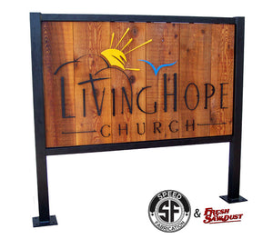 Outdoor Business Entrance Sign - Speed Fabrication