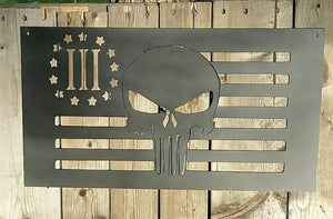 Punisher Flag 3% Gun Rights Grunt Style Second Amendment great for a man cave or gift - Speed Fabrication