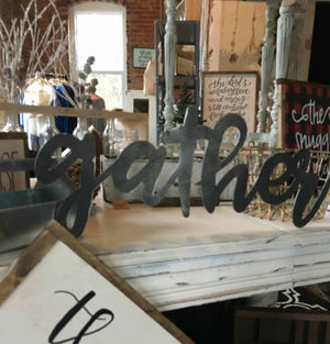 Inspirational Words Metal Sign, Bare Metal, DIY, Believe Blessed, Grace, Faith, Breathe, Hope, Family, Custom Words, Cursive Writing - Speed Fabrication