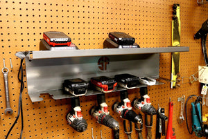 Cordless Drill Driver Organizer with Battery Charger Tray By Power Deck Tools - Speed Fabrication