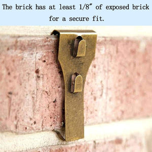 Brick Clip for hanging decorations with out drilling into brick - Speed Fabrication