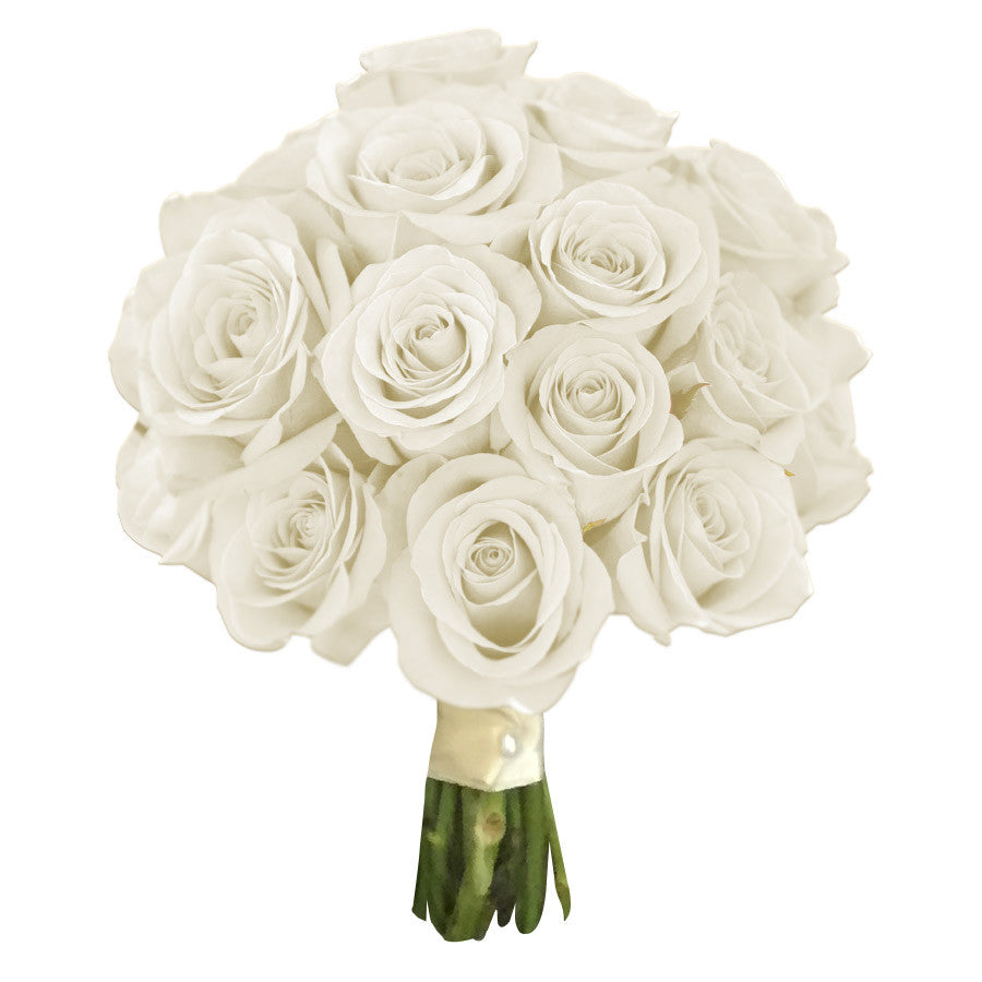 White Rose Wedding Bouquet Tunies Floral Expressions