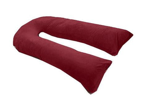 BURGANDY//MAROON VARIOUS COLOURS AVAILABLE 12FT U//V BODY MATERNITY//PREGNANCY PILLOW CASE