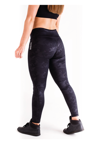 Ignite Camo Leggings - Black