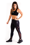 Ignite Mesh Leggings - Black