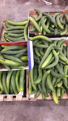 Slanted cucumbers