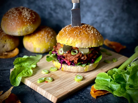 Veganuary Jackfruit Burger