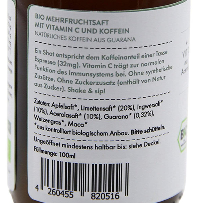 "DJAHÉ GmbH 12x Bio Ingwer-Limette Shot ""POWER"", 100ml [Multipack]"