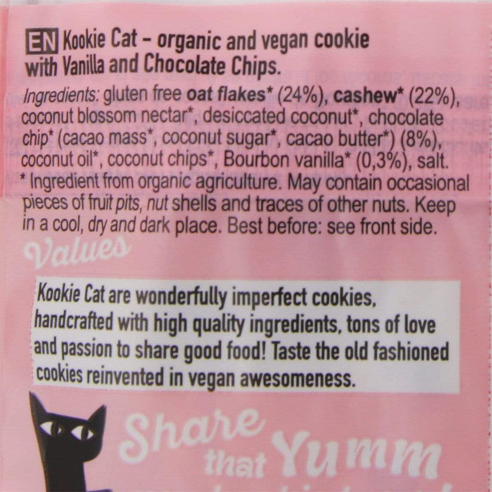 "Smart Organic 12x Smart Organics -Kookie Cat ""Vanilla choc"" [Multipack]50g"