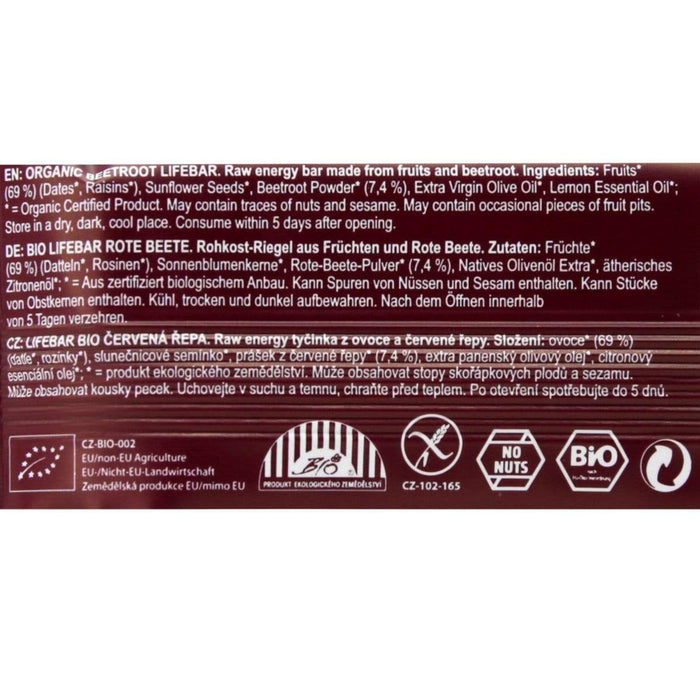 REALLY RAW 15xReally Raw Lifebar Beetroot [Multipack]