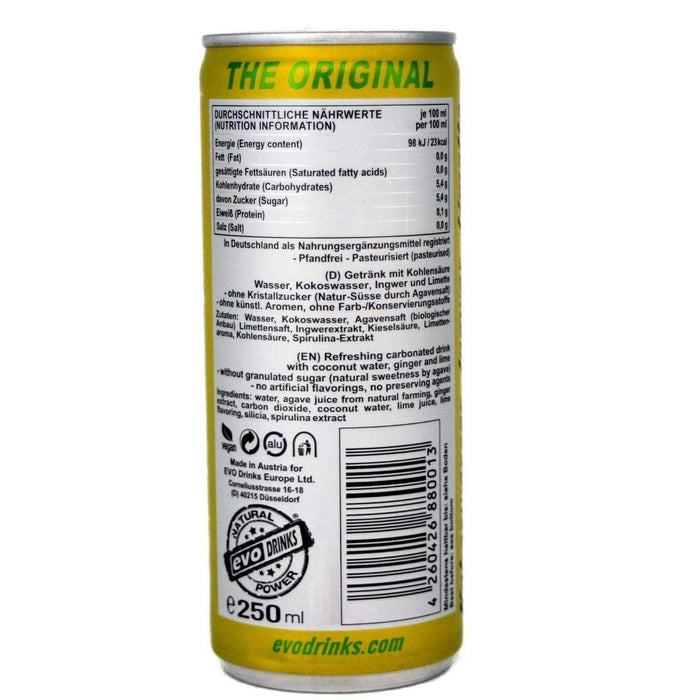evo drinks Ingwer-Limette  250ml