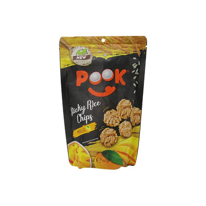 Pook Pook- Sticky Rice Chips Mango 60g