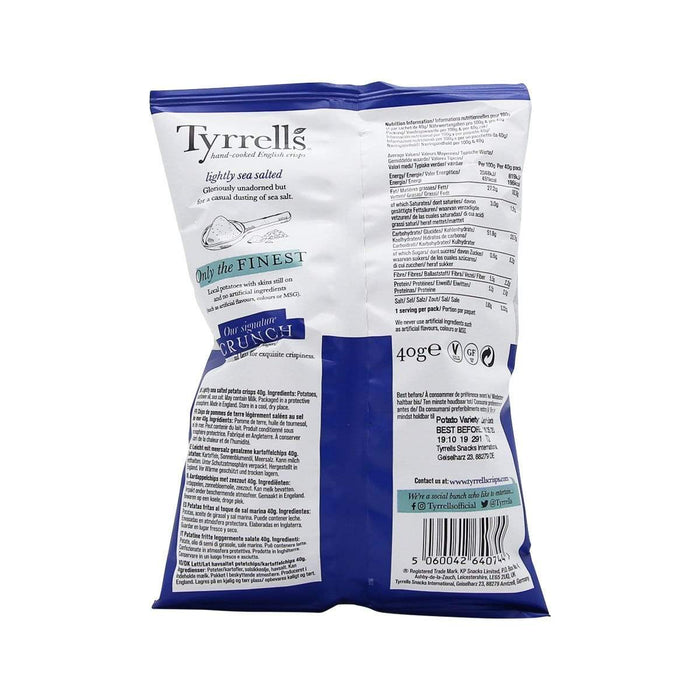 Tyrells Tyrrells Lightly Salted Chips, 40g