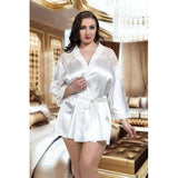 Plus Size - NineX Luxurious Satin Kimono - Big Girls Don't Cry Lingerie - NineX