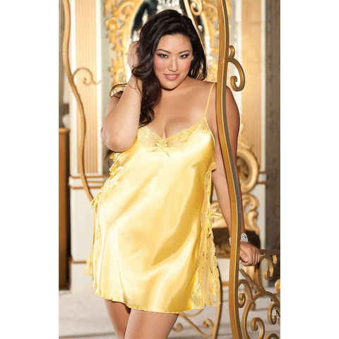 Shirley of Hollywood Lace-up Chemise