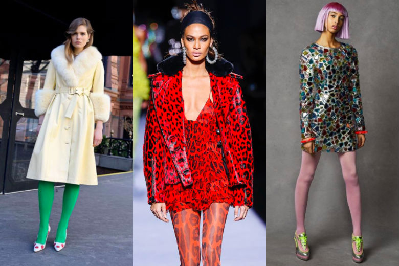 colorful tights fall winter 2018