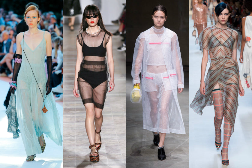 Sheer dresses trend spring summer 2018 ss18