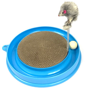 Scratcher Kitten, Cat and Cardboard Scratcher Cat Track Toy Catch The Mouse and Track Exercise Ball Toy, Fun Interactive Cat Track Toys for Multiple Cats, kitten to Play