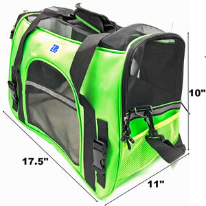 Irispets Airline Approved Soft sided Portable Pet Carriers Size M Color: Green