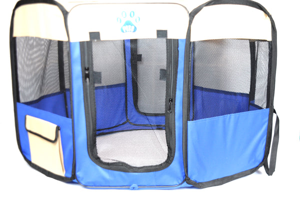 Irispets portable foldable soft playpen exercise pet kennel for all Dogs, Cats and other pet with carry bag