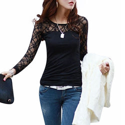 Long Sleeve Lace Top Blouse