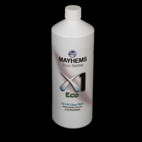 Mayhems X1 UV Clear Blue 1 Ltr Premixed Transparent Coolant
