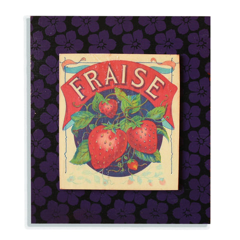 Fraise on black and purple