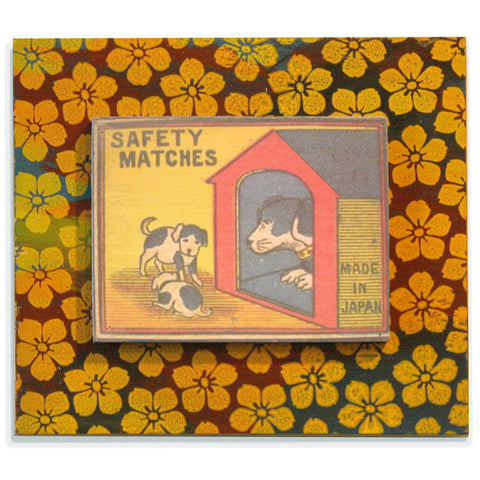 Doghouse with Yellow Flowers