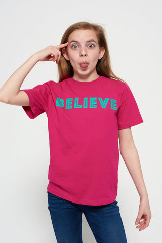 Short-sleeve BELIEVE t-shirt