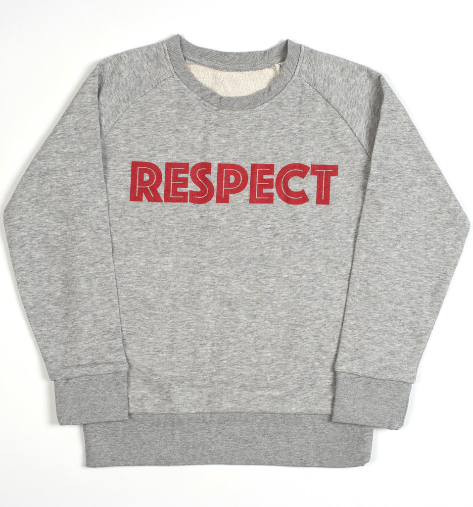 Long-sleeve RESPECT sweatshirt