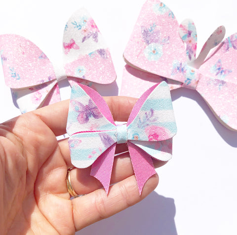 """5 pieces GRAB BAG 2/"""" butterfly sequin bow"""