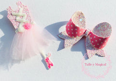 ballerina hair bows bow box monthly box