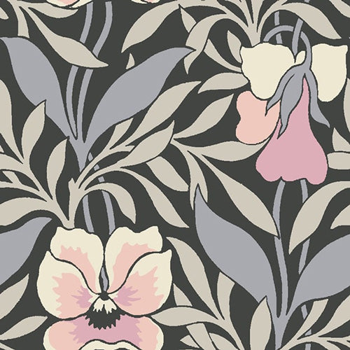 Harriet's Pansy Pink-Hesketh House Liberty Cotton Fabric 04775648Y