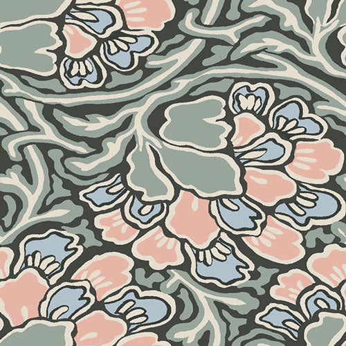 Dianthus Dreams - Pink -Hesketh House Liberty Cotton Fabric 04775649
