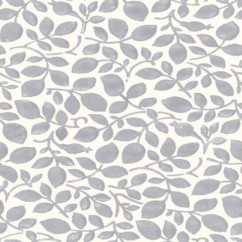 Cumbrian Vine - Grey -Hesketh House Liberty Cotton Fabric 04775650Y