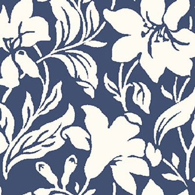 Day Lily - Blue -Hesketh House Liberty Cotton Fabric 04775652X