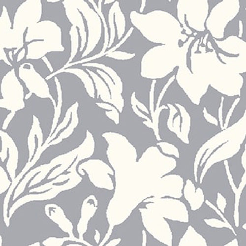 Day Lily - Grey -Hesketh House Liberty Cotton Fabric 04775652Y