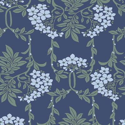 Nouveau Mayflower - Blue -Hesketh House Liberty Fabric Felt 04775654X