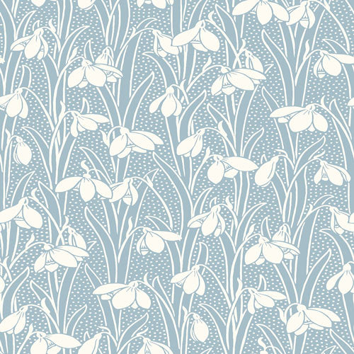 Hesketh - Soft Blue -Hesketh House Liberty Cotton Fabric 04775656T