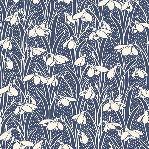 Hesketh - Dark Blue -Hesketh House Liberty Cotton Fabric 04775656W