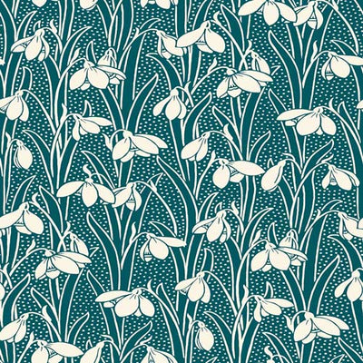 Hesketh - Forest Green -Hesketh House Liberty Cotton Fabric 04775656Z
