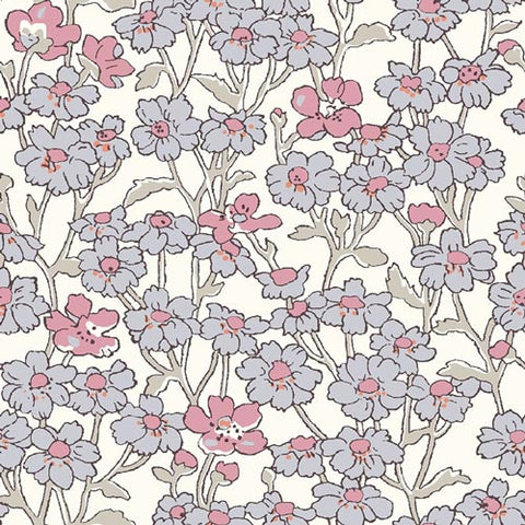 Chiltern Hill - Pink -Hesketh House Liberty Cotton Fabric 04775658Y