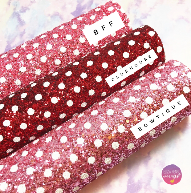 Polka Dot Chunky Glitter Fabric Collection